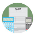 annual tax calculation vector image