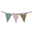 multicolored silhouette decorative flags party vector image