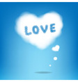 Cloud From Hearts With Text vector image vector image