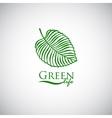 Green life doodle leaf like logo icon vector image