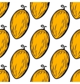 Yellow melon fruit seamless pattern vector image vector image