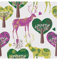 deer in the forest vector image