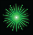 Explosion background with green colors vector image