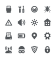 Device security icon set vector image