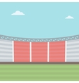Background of football stadium vector image