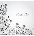 Black and white grunge flower vector image