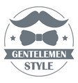 gentlemen style logo simple style vector image
