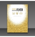 Gold Flyer design template Greeting Card Design vector image
