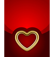 gold glossy heart vector image