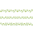 green floral border vector image