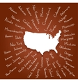 Hand Drawn USA states vector image