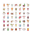 icons drinks vector image