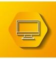 monitor computer icon vector image