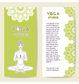 Set card template for spa center yoga studio vector image