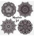 Set of abstract round mandalas in vector image