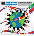 Worldwide friendship conceptual vector image