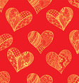 Red Floral Love Heart Pattern vector image