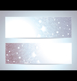 Two Abstract banners backgrounds vector image vector image