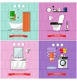 set of posters banners with bathroom vector image