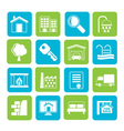 Silhouette Real Estate Icons vector image