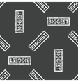 Rubber stamp BIGGEST pattern vector image