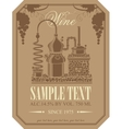 label for wine vector image vector image