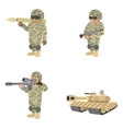 Set of soldiers cartoon icons vector image