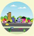 0308 Country landscape vector image
