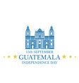 Independence Day Guatemala vector image
