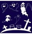 Doodle set ghost Halloween vector image