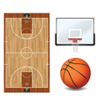 Basketball Design Elements vector image