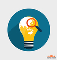 Electric light bulb with world map Business vector image