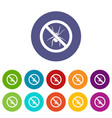 No spider sign set icons vector image