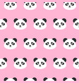 panda heads seamless pattern vector image