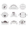 Set of vintage decorations labels vector image