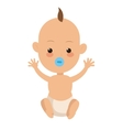 single baby icon vector image