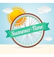 summer bike card vector image
