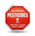 warning pesticide danger vector image