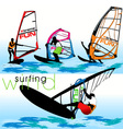 windsurf set vector image