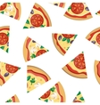 Pizza Pieces Seamless Flat Pattern vector image