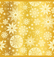 gold yellow abstract doodle stars seamless vector image vector image