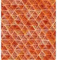 Ornate hand-drawn brown triangles pattern vector image vector image