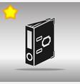 folder black icon button logo symbol vector image