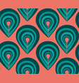 abstract pattern with peacock feathers elements vector image