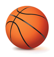 Realistic Basketball Isolated on White vector image