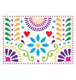 mexican folk art pattern colorful design