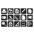 Silhouette Commercial print icons vector image vector image