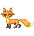 little fox stands vector image vector image