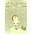 snowman and snow vector image vector image