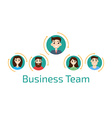 Avatar business team vector image